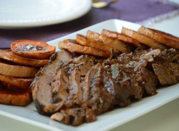 Carne con Hongos (baja en calorías) - Laura Di Cola