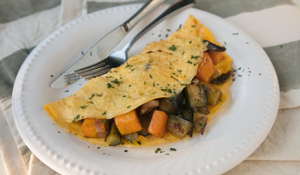 Omelette con verduras asadas - Laura Di Cola