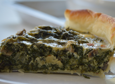 Tarta de acelga y hongos - Laura Di Cola