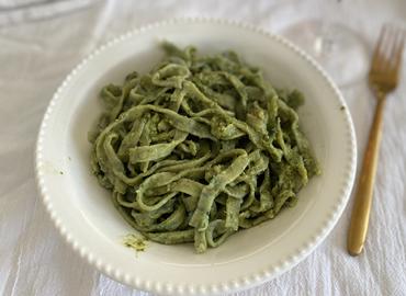 Pasta casera de kale