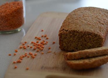 Pan con lentejas