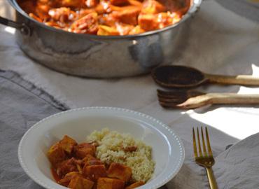 Tofu en curry